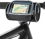 Bolsa para manillar de bicicleta, resistente al agua, gran capacidad, con smartphone, pantalla táctil, accesorio para bicicleta, ideal para navegación.