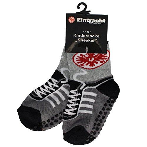 Eintracht Frankfurt - Kindersocke Sneaker Größe 21-24 1 Paar mit aufgedruckten Schnürsenkeln
