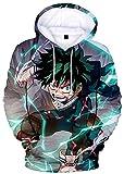 YIMIAO Niño Niña My Hero Academia Anime Sudadera con Capucha Impresión 3D Hombre Hoodie Ropa Deportiva Pullover(L)