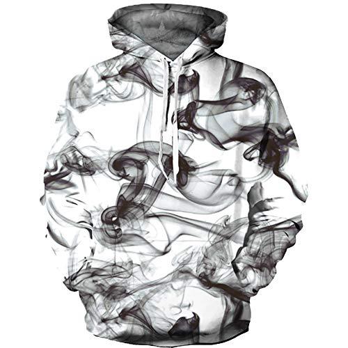 OYABEAUTYE Boys' Teen 3D Print Graphic Sweatshirts Long Sleeve Pullover Hoodies with Pocket(XX-Large(11-14 Years/145-155cm),Smoke White)