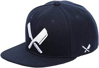 Distorted People Barber & Butcher Logo Blades Blue White Snapback Cap Basecap OSFA One Size