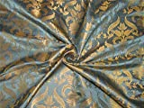 TheFabricFactory BRO577 Brokat-Stoff, 111,8 cm, Blaugrau /