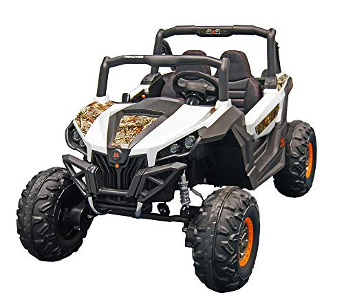 Best Ride On Cars Realtree Lightning UTV, 12V Battery Powered Ride On Car, White
