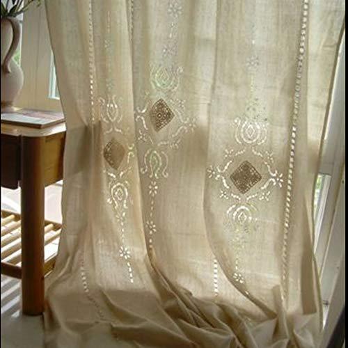 Ericcay Einfarbige Verdunkelungsvorhang Fenster Vorhang 180X255Cm Fensterfolie Einfacher Stil Landhaus Vintage Jugendstil Ornament (Color : Colour, Size : 180X255)