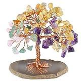 MookaiteDecor - Árbol de dinero con piedras preciosas de Feng Shui, decoración de árbol...