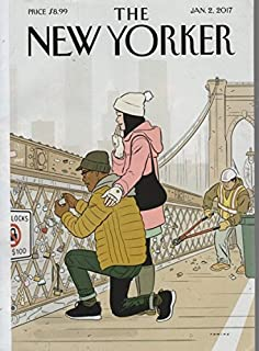 The New Yorker 2017 January 2 - cover: Love Locks. By Adrian Tomine