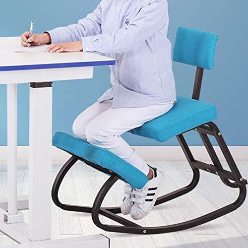 ZXL Ergonomischer Kniestuhl, Kinder Lernen Computer-Stuhl, Lindern Rücken- / Nackenschmerzen, Schaukelstuhl Massivholz, Sitzposition Richtige Anti-Myopie,Rosa