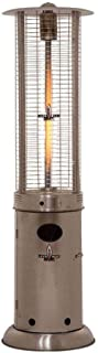 Floorstanding Patio Heater, Portable Outdoor Heat Lamp Infrared Heater, Stainless Steel Patio Gas Heater for Indoors and O...