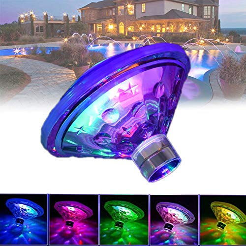 EnweLampi Diamond Floating Lights, Hot Tub Mood Lights, Lazy Spa Accessory, 7 Lighting Modes Powered by Three AAA Batteries for Pond, Bathtub, Christmas, Party