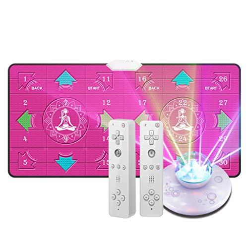 YYF Bonne Isolation Acoustique Danse Blanket Double Dance Machine Home Computer TV à Double Usage Interface HD 4K Perte de Poids en Cours Blanket Doux (Color : Pink)
