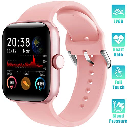 LIFEBEE Smartwatch Orologio Fitness Tracker Uomo Donna con TouchScreen Completo Impermeabile IP68 Smart Watches Pressione Sanguigna Monitor Cardiofrequenzimetro da Polso Contapassi per Android iOS