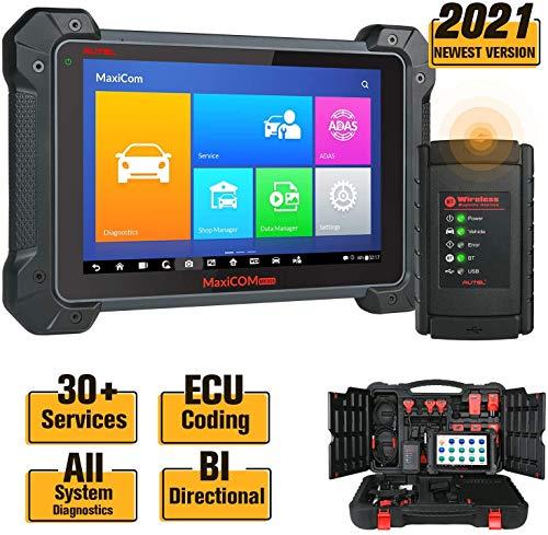 Autel Mk908 Maxicom Escáner de diagnóstico(MS908 MK808 actualizado) con codificación de ECU,Control bidireccional,inyector de Combustible,Prueba Activa,programación de Llavero
