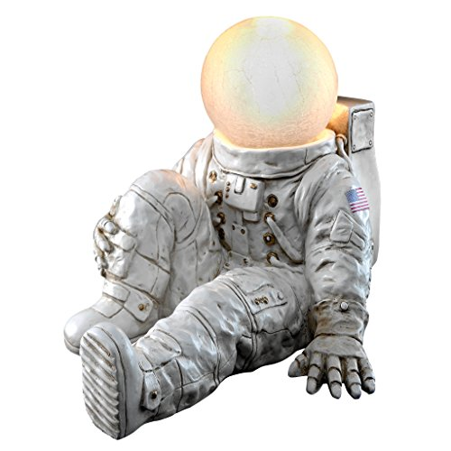 Design Toscano Astronaut at Ease Lighted Sculpture, 11.5 Inch, Full Color