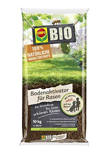 Compo Bio Bodenaktivator für Rasen, Ideal für Rollrasenverlegung und Rasenneuanlage, 10 kg