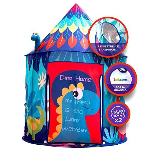 LUDAZON Tenda Gioco per Bambini e Bambine, NUOVO MODELLO 2021, Stimola Fantasia e Creatività, Ideale per interni ed esterni, Borsa Omaggio, Scorri le foto e guarda il VIDEO