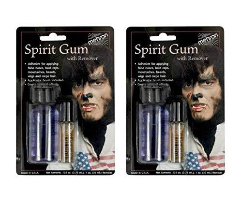 Mehron Makeup Spirit Gum and Spirit Gum Remover Combo Set (.125 oz) (2-Pack)