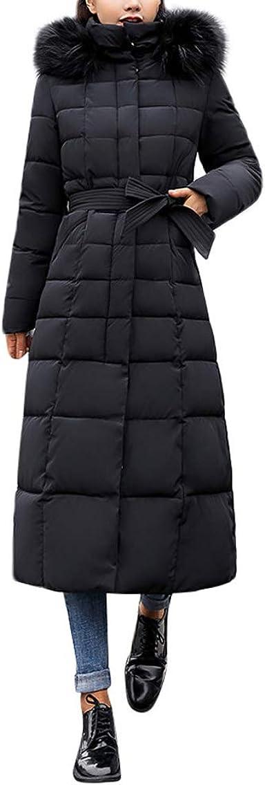 MODOQO Women's Long Down Coat with Fur Hood Plus Tall Warm Jacket Overcoat