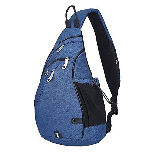 HASAGEI Sport Rucksack Schultertasche Sling Bag Herren und Damen Crossbag Brust Tasche für Wandern Camping Schule (Blau)