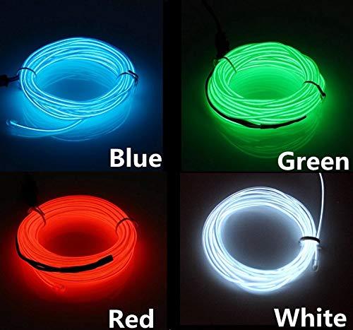 SOUTHSKY Luminoso Azul EL Alambre con Controlador Box 3M Impermeable LED Luces...