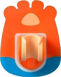 BEE&BlUE シャワーフック シャワーヘッドホルダー 角度調整 おしゃれ 取り付け簡単 粘着 浴室用ラック オレンジ