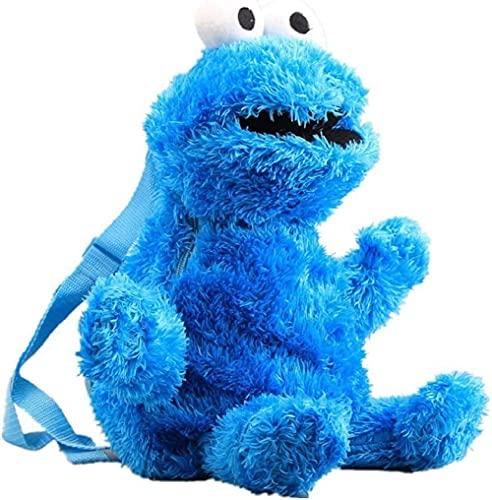 N\A Plüsch-Rucksack Sesamstraße Krümelmonster Elmo - ca. 46 cm (Blau)