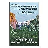 Vintage Yosemite National Park Poster Schlafzimmer Deko