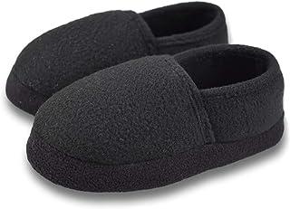 Tirzrro Little/Big Kids Warm Plush Fleece Slippers with Soft Memory Foam Slip-on Indoor Shoes