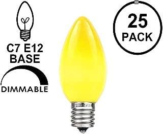 Box of 60 ~  AMBER tint FLUTED swirl GLASS light BULB CANDELBRA E12 base 15w C7