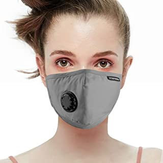 UTRIPSUNEW Air Pollution Safety Mask with Breathing Valve Washable and Reusable Cotton Air Filter Mask Prevent Flu Pollen Woodworking Face Mask Respirator