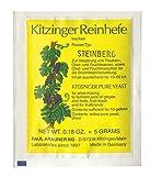 AlcoFermBrew Steinberg Yeast Kitzinger 50L - Activo seco para Vino Steinberg, levadura para Hacer Vino, levadura de Carne, nutriente, Espesor para Alto Alcohol, levadura para Uvas y Frutas