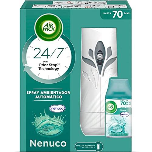 Air Wick Freshmatic - Aparato y recambio de Ambientador Spray Automático, Esencia para Casa con...
