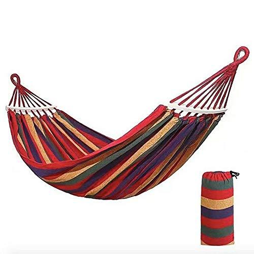 Radiancy Inc Draagbare GardenHammock Travel Camping Hangmat, met bocht stok, Anti-roll, Geschikt voor buiten en binnenplaats M Rood