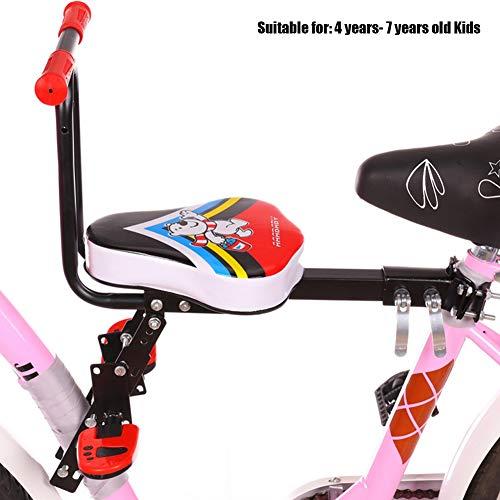 HUILING Fahrrad Kindersitz, Kindersitz Fahrrad Vorne Elektroauto Damenrad Mountainbike Kind Vorderseite Sitz Einstellbar Sicherheit Kinderfahrradsitz (Color : Red 01)