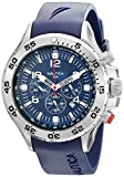 Nautica Men's N14555G NST Stainless Steel Watch with Blue Resin Band