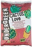 Undergreen CACTUS Love, Terriccio per Cactus e altre Piante Grasse da appartamento o balcone, Consentito in agricoltura biologica, 2.5 l