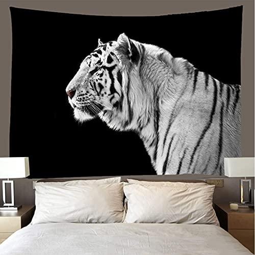 binghongcha Tiger Tapestry 350X256Cm Mandala Tapestries Yoga Mat Beach Towel Blanket,Picnic Beach Sheet, Table Cloth, Boho,Decorative Wall Hanging A3285