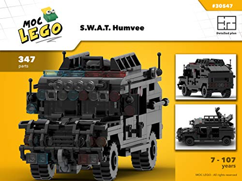 S.W.A.T. Humvee (Instruction Only): MOC LEGO (English Edition)