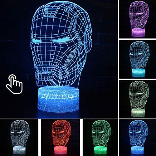 Anime 3D Illusion LED Lamp USB Colourful NightLight Model Toys for Kids Christmas Gift