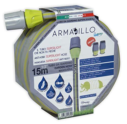 Hecha en Italia Idroeasy Magic Soft 7.5 metros la Manguera Extensibile para el Jard/ín que se extiende hasta 2,5 veces su longitud inicial