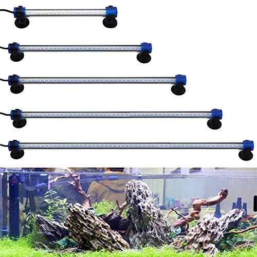 BPS Luz Blanca/Azul LED de Acuario Peces Tanque Clip Lámpara Iluminación de Plantas de Acuario con Luz con Diferente Voltaje Longitud (1W...