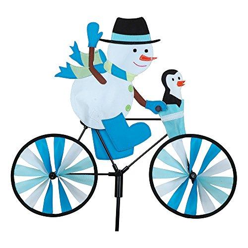 Premier Kite PKBISNO_GPETIT Girouette Bonhomme de Neige à Vélo, Multicolore, 43 x 8 x 110 cm