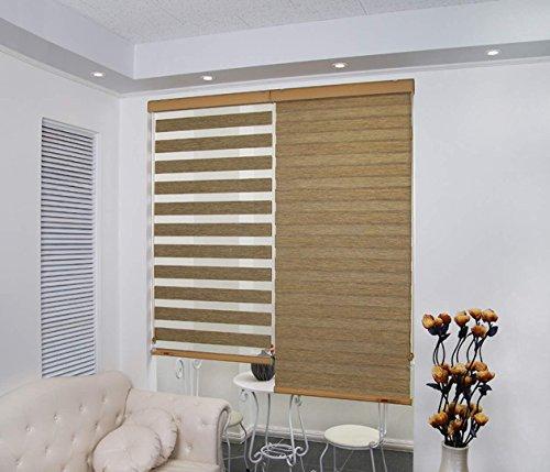 Zebra Blinds Polyester Beige Corded Windows Door Home Decor Combi Curtain
