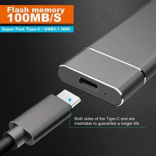 Disco Duro Externo de 2TB Disco Duro Externo portátil, HDD Externo ultradelgado para Mac, PC, Mac, Escritorio, computadora portátil (2TB, G-Gold) miniatura