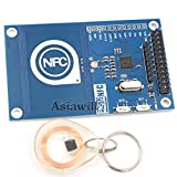 Asiawill 13.56 MHz pn532 bordo antenna NFC/RFID Modulo con Smart Card per Arduino/compatibile con Raspberry Pi