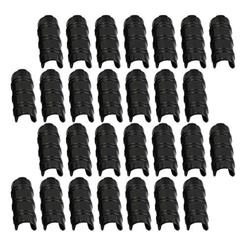 YARNOW - 30 pinzas de tubo para jardín, 20 mm, color negro