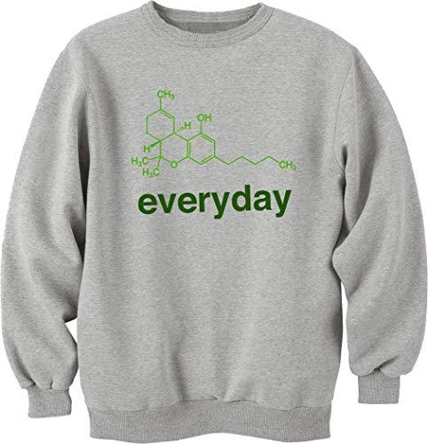 Nothingtowear Unisex THC Everyday Chemical Science Funny Sweatshirt Jumper Grau L
