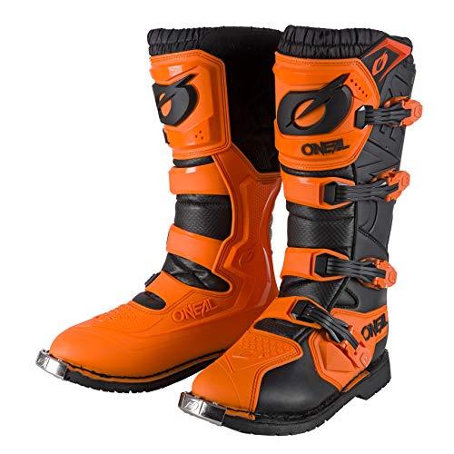 O'NEAL | Motocross-Stiefel | Enduro Motorrad | Komfort durch Air-Mesh-Innenleben, vier Verschlussschnallen, hochwertiges Synthetik-Material | Boots Rider Pro | Erwachsene | Orange | Größe 40