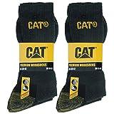 Caterpillar Premium Work Socks 6 Paia di Calze da Lavoro Uomo Scarpe Antinfortunistiche, Doppio Rinforzo su Punta e Tallone, Ottima Qualità Spugna di Cotone (Antracite, 39-42)