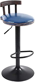 Sillas Taburetes de Bar Mesas de café giratorias Barras Retro-Vintage Elevación Elevación Barra de Madera Alta Americana (Color : Blue)