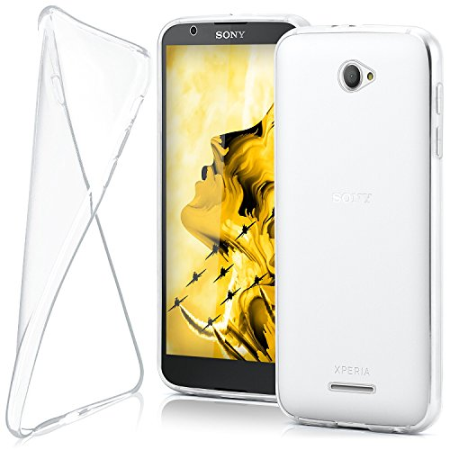 MoEx® Funda [Transparente] Compatible con Sony Xperia E4 | Ultrafina y Antideslizante - Transparent